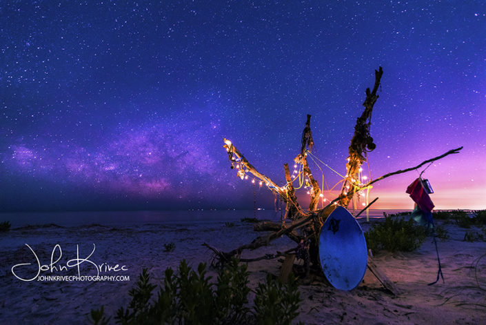 St Simons Island GA Milky Way Beach