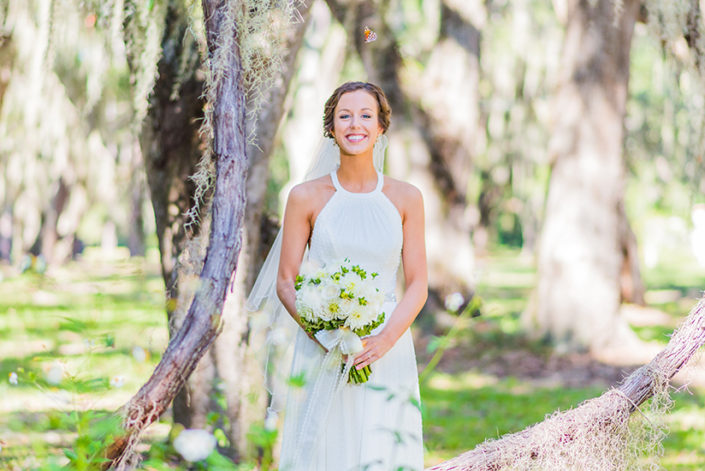 St Simons Island Wedding Photography Bridal with Butterfly