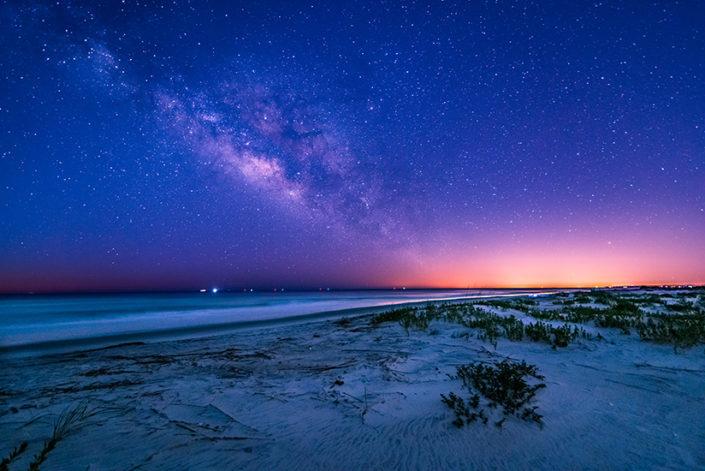 St Simons Island Beach Milky Way