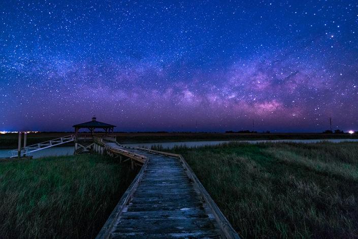 St Simons Island Dock Milky Way