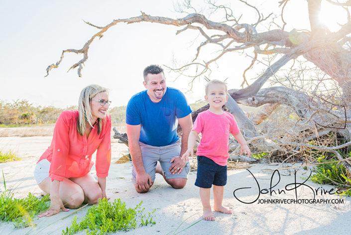 Jekyll Island Driftwood Beach Family Photography Documentary