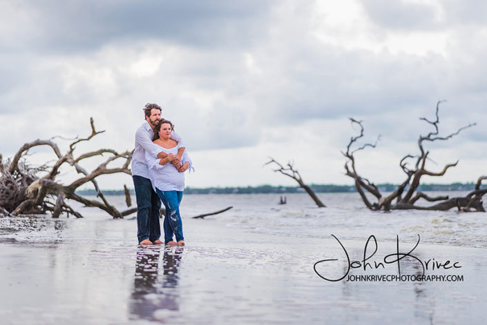Jekyll Island Driftwood Beach Engagement Photography