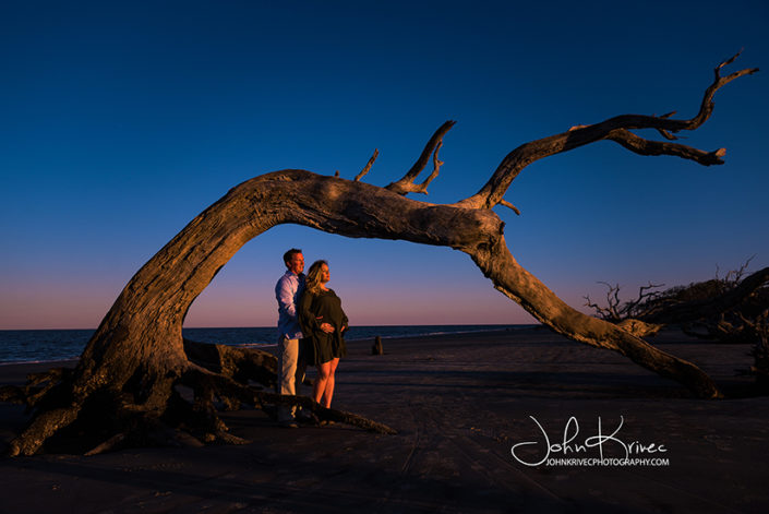 Driftwood Beach Maternity Photographer