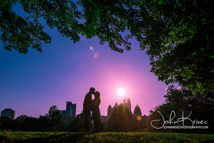 Atlanta Piedmont Park Engagement Photography