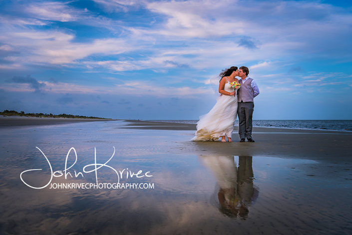 Beach Wedding Jekyll Island Photography