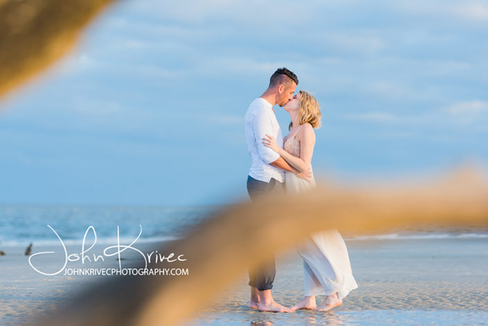 Driftwood Beach Jekyll Island Engagement Photography