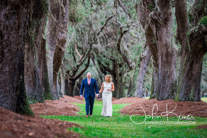 Avenue of the Oaks Wedding Photography, Sea Island GA