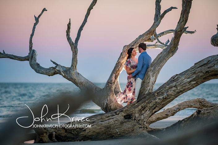 Driftwood Beach Engagement Photography, Jekyll Island GA