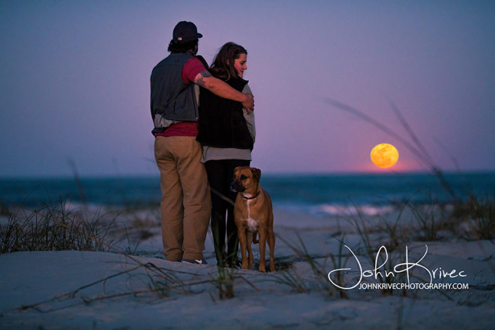Full moon over St Simons Island