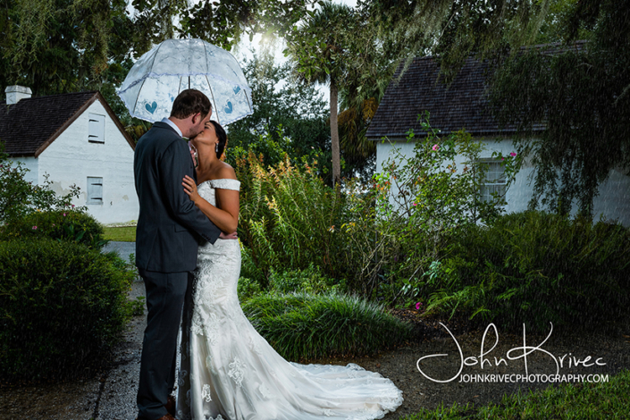 Wedding Photography St Simons Island Rainy